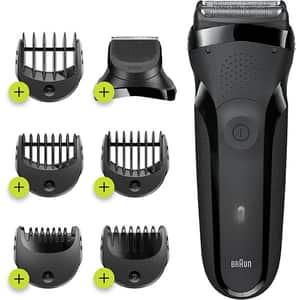 Aparat de ras BRAUN Series 3 300BT Shave&Style, acumulator, autonomie 30 min, Wet&Dry, negru