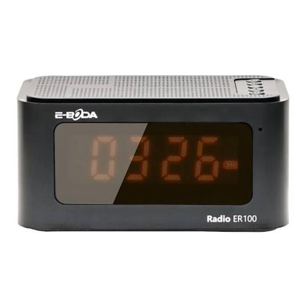 Radio cu ceas E-BODA ER 100, FM, negru