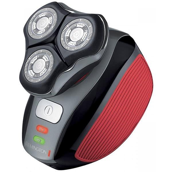 Aparat de ras REMINGTON Flex 360° XR1410, acumulator, autonomie 45 min, Tehnologie HyperFlex, negru-rosu