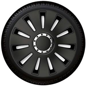 "Set capace roata PETEX Silverstone Pro Black, 15"""