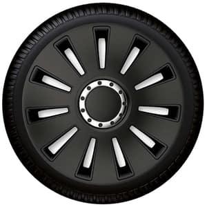 "Set capace roata PETEX Silverstone Pro Black, 16"""