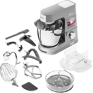 Robot de bucatarie KENWOOD Cooking Chef XL KCL95.424SI, vase 5l/6.7l, blender 1.6l, 1500W, 13 trepte viteza, argintiu