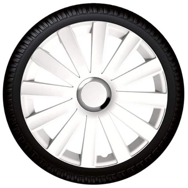 "Set capace roata PETEX Spyder Pro White, 16"""