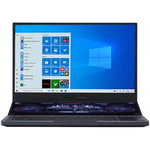 "Laptop Gaming ASUS ROG Zephyrus Duo 15 GX550LWS-HF066T, Intel Core i7-10875H pana la 5.1GHz, 15.6"" Full HD, 32GB, SSD 1TB, NVIDIA GeForce RTX 2070 Super 8GB, Windows 10 Home, gri inchis"