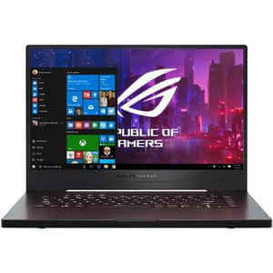 "Laptop Gaming ASUS ROG Zephyrus G15 GA502IU-AZ015T, AMD Ryzen 7 4800HS pana la 4.2GHz, 15.6"" Full HD, 16GB, SSD 1TB, NVIDIA GeForce GTX 1660Ti 6GB, Windows 10 Home, negru"