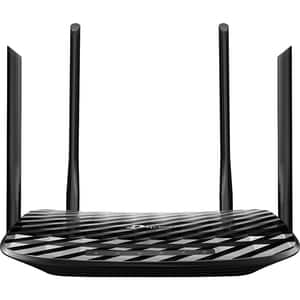 Router Wireless Gigabit TP-LINK Archer A6 AC1200, Dual-band 300 + 867 Mbps, negru