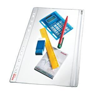Folii protectie documente cu fermoar ESSELTE, 200 microni, 5 bucati