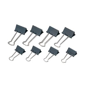 Clipsuri metalice pentru hartie VOLUM, 40 mm 12 buc/cutie, negru