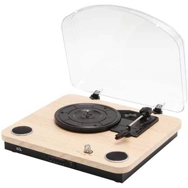 Pick-up SAL RRT 12B, Bluetooth, FM, USB, maro-negru