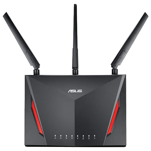 Router Wireless Gigabit ASUS RT-AC86U AC2900, Dual Band 750 + 2167 Mbps, USB 3.0, negru