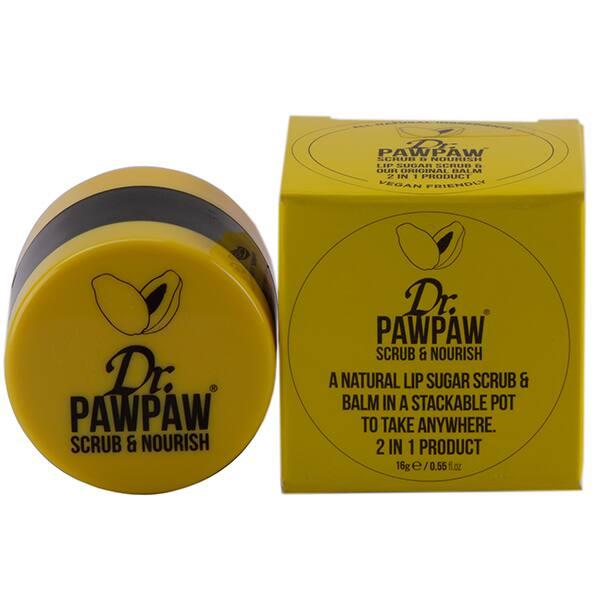 Balsam de buze DR. PAWPAW Scrub&Nourish, 16ml