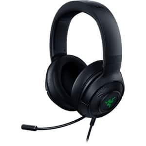 Casti Gaming RAZER Kraken X USB, 7.1 surround, USB, negru-verde