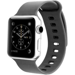 Bratara pentru Apple Watch 42mm/44mm, PROMATE Rarity-42SM, silicon, Small/Medium, gri
