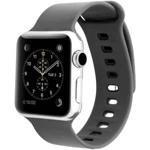 Bratara pentru Apple Watch 38mm, Medium/Large, PROMATE Rarity-38ML, silicon, gri