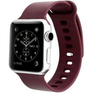 Bratara pentru Apple Watch 38mm/40mm, PROMATE Rarity-38SM, silicon, Small/Medium, maro