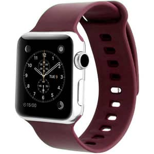 Bratara pentru Apple Watch 42mm, Medium/Large, PROMATE Rarity-42ML, silicon, maro