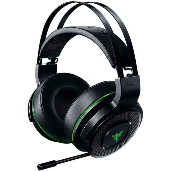Casti Gaming Wireless RAZER Thresher Xbox One, stereo, dongle 2.4Ghz, negru-verde