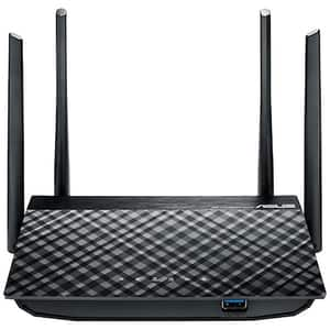 Router Wireless Gigabit ASUS RT-AC1300G Plus, Dual-Band 400 + 867 Mbps, USB 3.0, negru