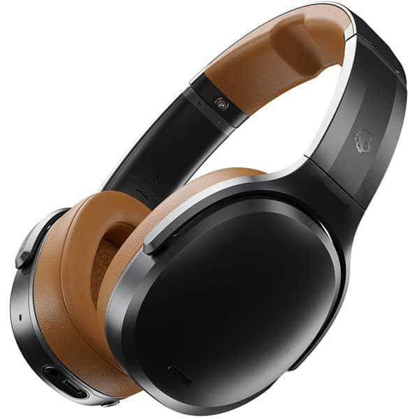 Casti SKULLCANDY Crusher ANC S6CPW-M373, Bluetooth, Over-ear, Microfon, Tile Tracker, Noise Cancelling, Black Tan