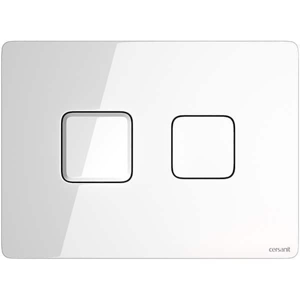 Clapeta actionare CERSANIT Accento S97-054, actiune dubla, alb