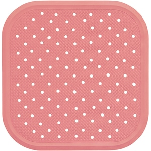 Covoras antiderapant pentru dus SANGER SANG13718, 56 x 56cm, roz