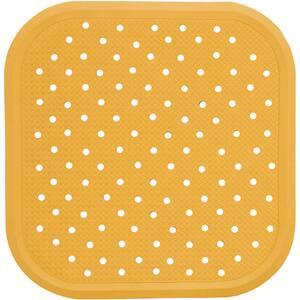 Covoras antiderapant pentru dus SANGER SANG13723, 56 x 56cm, galben
