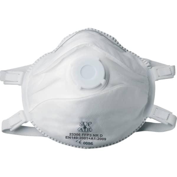 Set masti de protectie COVERGUARD, FFP3, reutilizabile, supapa, 5 bucati, alb