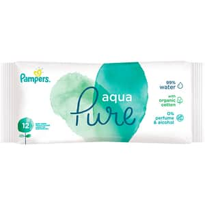 Servetele umede PAMPERS Aqua Pure, 12buc