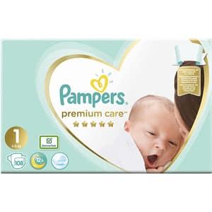Scutece PAMPERS Premium Care Jumbo Pack nr 1, Unisex, 2-5 kg, 108 buc