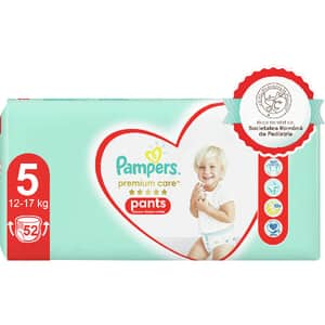 Scutece chilotei PAMPERS Premium Care Pants Mega Box nr 5, Unisex, 12-17 kg, 52 buc