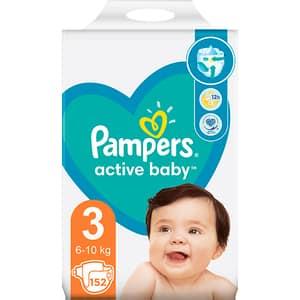 Scutece PAMPERS Active Baby Mega Pack nr 3, Unisex, 6-10 kg, 152 buc