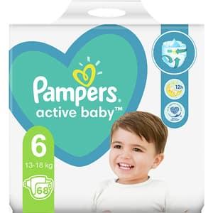 Scutece PAMPERS Active Baby Mega Box nr 6, Unisex, 13-18 kg, 96 buc