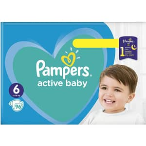 Scutece PAMPERS Active Baby Mega Box nr 6, Unisex, 13 -18 kg, 96 buc