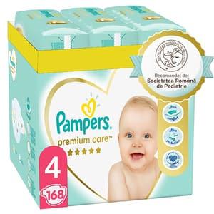 Scutece PAMPERS Premium Care XXL Box nr 4, Unisex, 9-14 kg, 168 buc