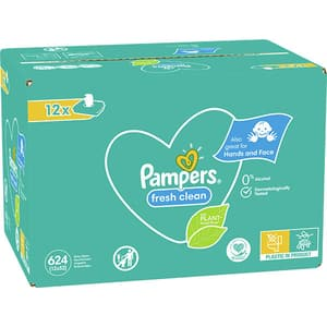 Servetele umede PAMPERS Fresh Clean, 12 pachete, 624 buc