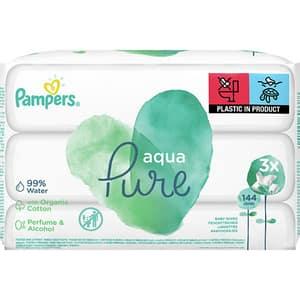 Servetele umede PAMPERS Aqua Pure, 144buc