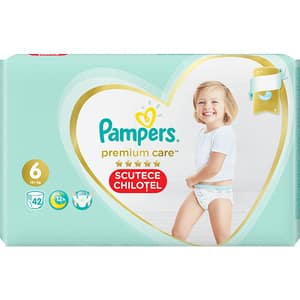 Scutece chilotei PAMPERS Premium Care Pants Mega Box nr 6, Unisex, 15+ kg, 42 buc