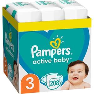 Scutece PAMPERS Active Baby XXL Box nr 3, Unisex, 6-10 kg, 208 buc
