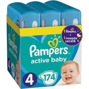 Scutece PAMPERS Active Baby XXL Box nr 4, Unisex, 9-14 kg, 174 buc