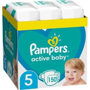 Scutece PAMPERS Active Baby XXL Box nr 5, Unisex, 11-16 kg, 150 buc