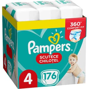 Scutece chilotei PAMPERS Pants XXL Box nr 4, Unisex, 9-15 kg, 176 buc