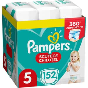 Scutece chilotei PAMPERS Pants XXL Box nr 5, Unisex, 12-17 kg, 152 buc