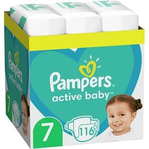 Scutece PAMPERS Active Baby XXL Box nr 7, Unisex, 15kg+, 116 buc