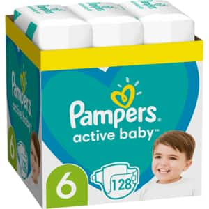 Scutece PAMPERS Active Baby XXL Box nr 6, Unisex, 13-18 kg, 128 buc