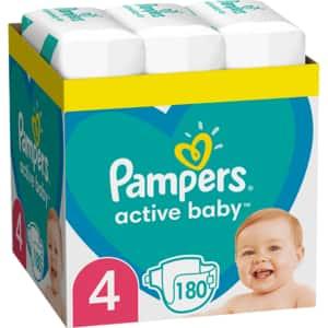 Scutece PAMPERS Active Baby XXL Box nr 4, Unisex, 9-14 kg, 180 buc
