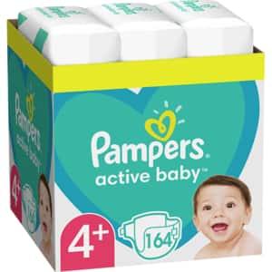 Scutece PAMPERS Active Baby XXL Box nr 4+, Unisex, 10-15kg, 164 buc
