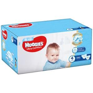 Scutece HUGGIES Ultra Comfort Box nr 4, Baiat, 8-14 kg, 100 buc
