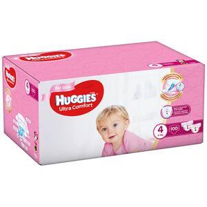 Scutece HUGGIES Ultra Comfort Box nr 4, Fata, 8-14 kg, 100 buc