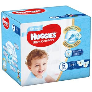 Scutece HUGGIES Ultra Comfort Box nr 5, Baiat, 12-22 kg, 84 buc