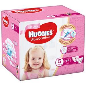 Scutece HUGGIES Ultra Comfor Box nr 5, Fata, 12-22 kg, 84 buc